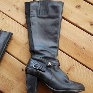 Blondo black waterproof leather heeled boots